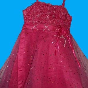 Pink Party Dress Girls Size 4-5 NWT